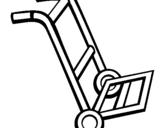 Dibujo de Carretilla para colorear