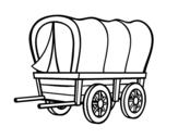 Dibujo de Carro del viejo Oeste para colorear