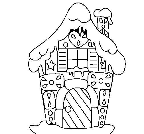 Dibujo de Casa de caramelo para Colorear