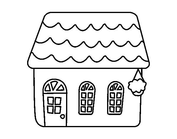 Dibujo de casa de cuento para colorear - Disenos para pintar tu casa ...