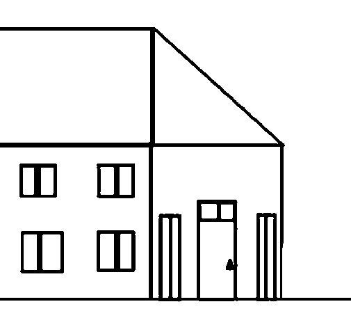 Dibujo de Casita 2 para Colorear