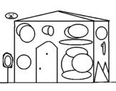 Dibujo de Casita 6 para colorear