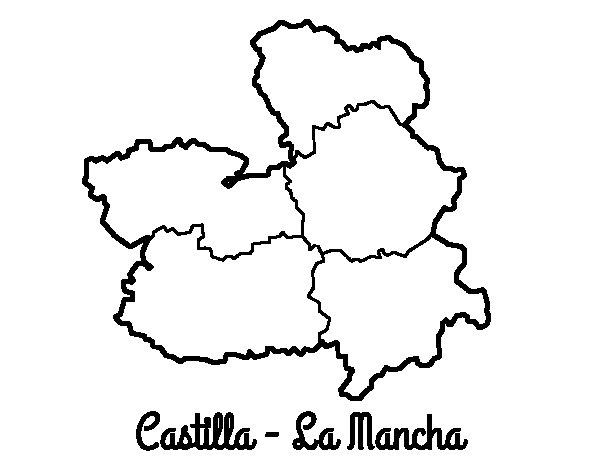 Dibujo de Castilla - La Mancha para Colorear