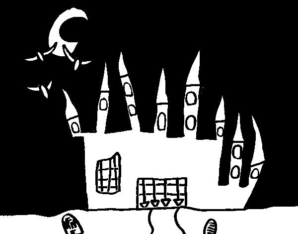 Dibujo de Castillo del terror para Colorear - Dibujos.net