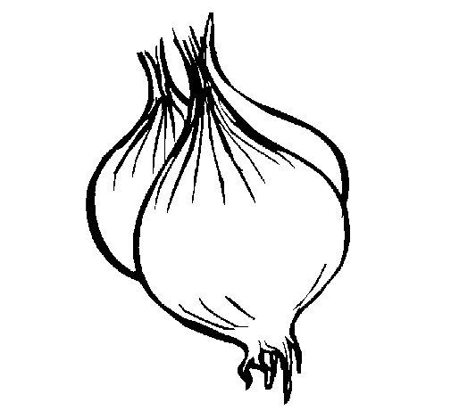 Dibujo de Cebolla para Colorear
