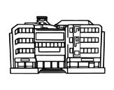 Dibujo de Centro comercial para colorear