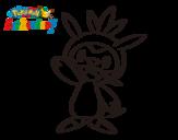 Dibujo de Chespin saludando para colorear