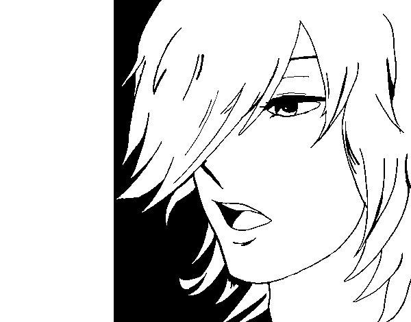 Dibujo de Chico anime para Colorear  Dibujosnet
