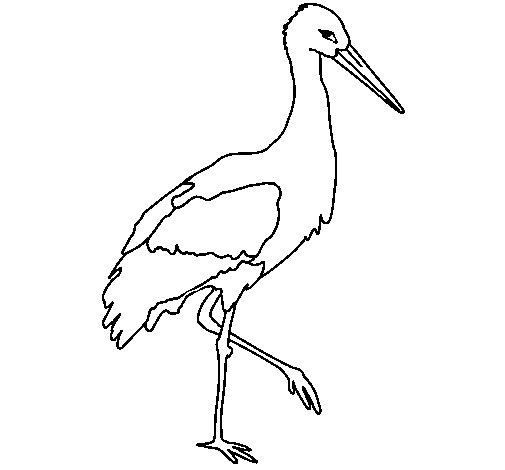 Dibujo de Cigüeña 1 para Colorear