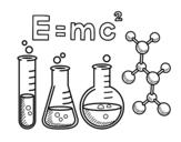 Dibujo de Clase de química para colorear