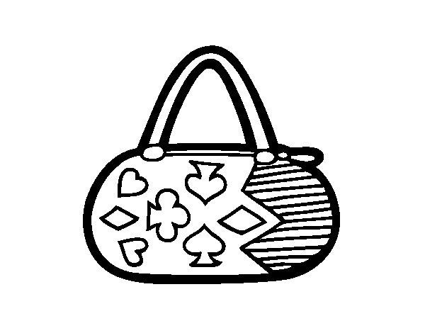 Dibujo de Clutch con motivos de cartas para Colorear