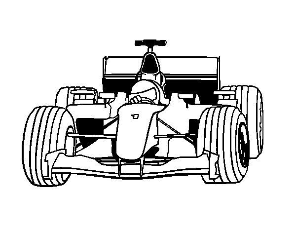 Worksheet. Dibujo de Coche de F1 para Colorear  Dibujosnet