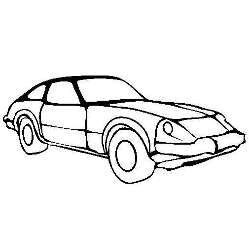 Dibujo de coche deportivo para colorear - Empapelar coche para pintar ...