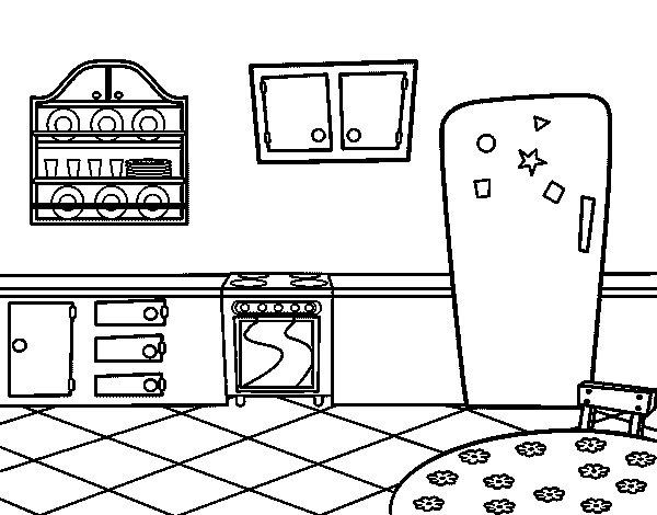 Imagenes de fondo de cocina para colorear imagui for Dibujos de cocina