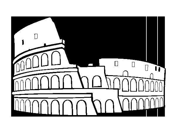Dibujo de Coliseo romano para Colorear  Dibujosnet