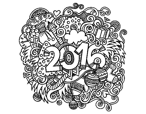 Dibujo de Collage 2016 para Colorear