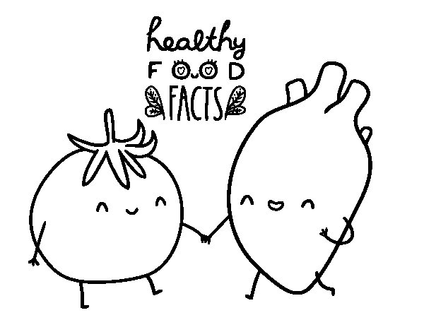 Dibujo de Comida sana para Colorear