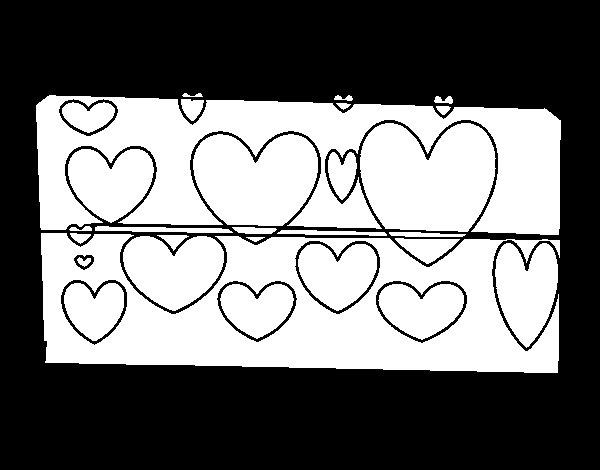 Imagenes De Dibujos Para Colorear De Corazones: Dibujo De Corazones Brillantes Para Colorear