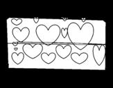 Dibujo de Corazones brillantes