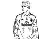 Dibujo de Cristiano Ronaldo para colorear
