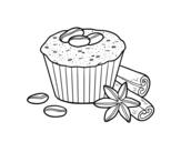 Dibujo de Cupcake de café