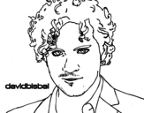 Dibujo de David Bisbal primer plano para colorear