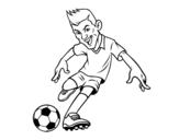 Dibujo de Delantero de futbol
