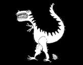 Dibujo de Dinosaurio con huevo