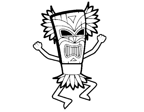 Dibujo de Dios maya para Colorear  Dibujosnet