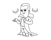 Dibujo de Disfraz de vampiro de Halloween para colorear