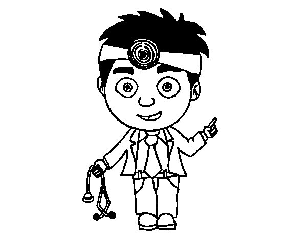 Dibujos De Medicos Para Colorear E Imprimir: Dibujo De Doctor Para Colorear
