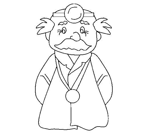 Dibujo de Doctor veterano para Colorear