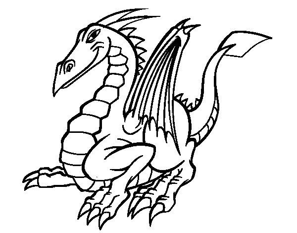Dibujo de Dragón elegante para Colorear - Dibujos.net