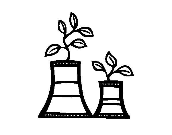 Dibujo de El fin de la energa nuclear para Colorear  Dibujosnet