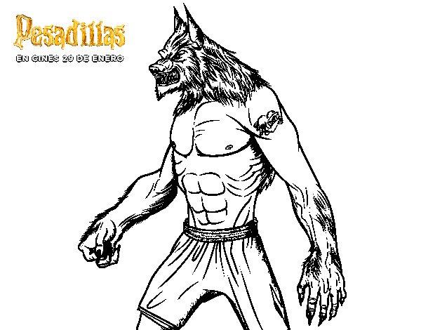 Dibujo de El hombre Lobo para Colorear