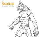 Dibujo de El hombre Lobo