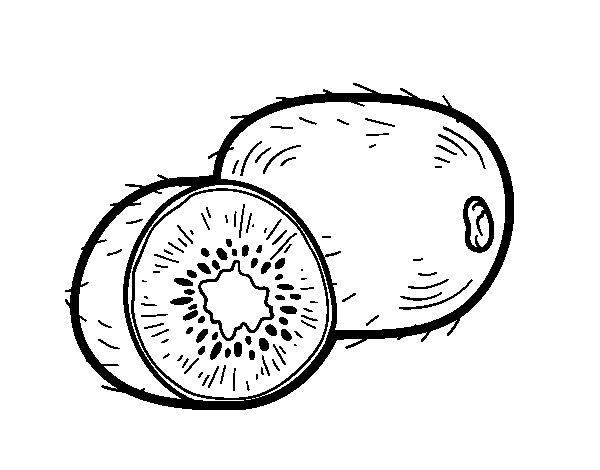 Dibujo de El kiwi para Colorear
