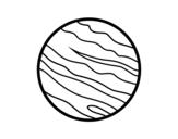 Dibujo de El planeta Júpiter
