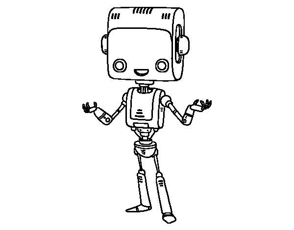 Dibujo de El robot inteligente para Colorear  Dibujosnet