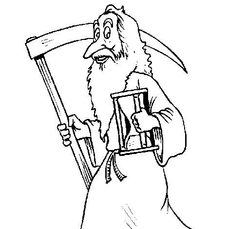 Dibujo de El señor del fin de año para Colorear
