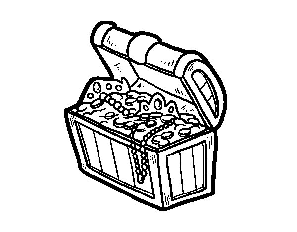 Dibujo de El tesoro pirata para Colorear