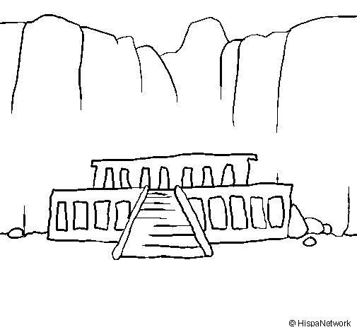 Dibujo de El Valle de los Reyes para Colorear