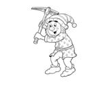 Dibujo de Enanito trabajador para colorear