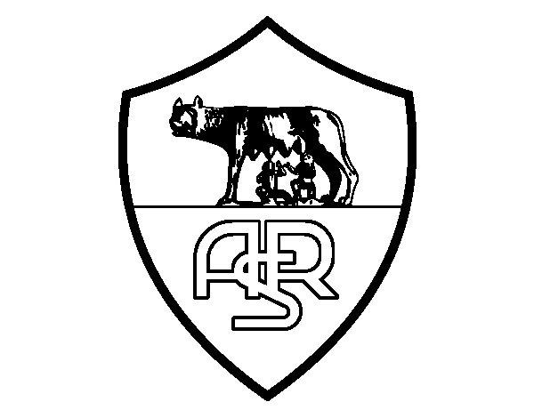 Dibujo de Escudo del AS Roma para Colorear