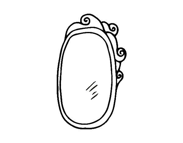 Dibujo de espejo con marco para colorear for Espejo con marco de espejo