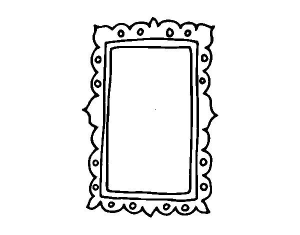 Dibujo de espejo de pared para colorear - Dibujos para espejos ...