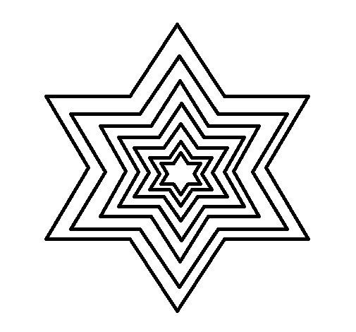 Dibujo de Estrella 2 para Colorear