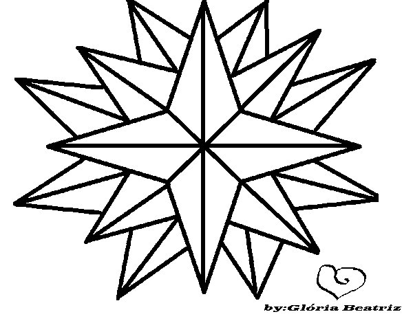 Dibujos De Estrellas Para Colorear E Imprimir: Dibujo De Estrella Brillante Para Colorear