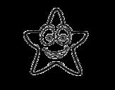 Dibujo de Estrella de mar sonriente para colorear