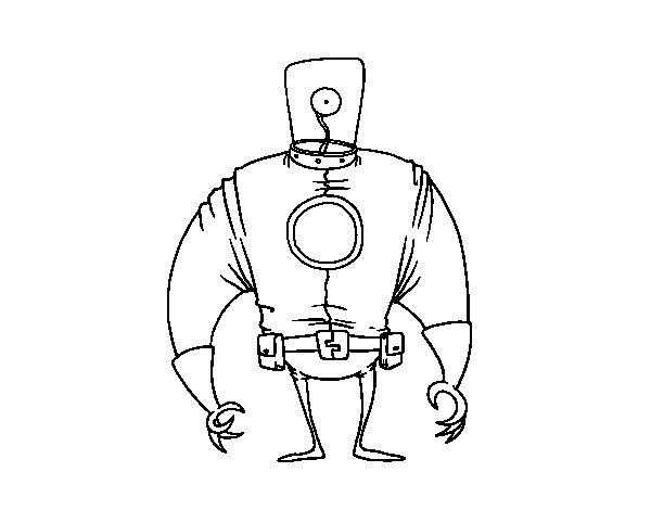 Dibujo de Extraterrestre corpulento para Colorear